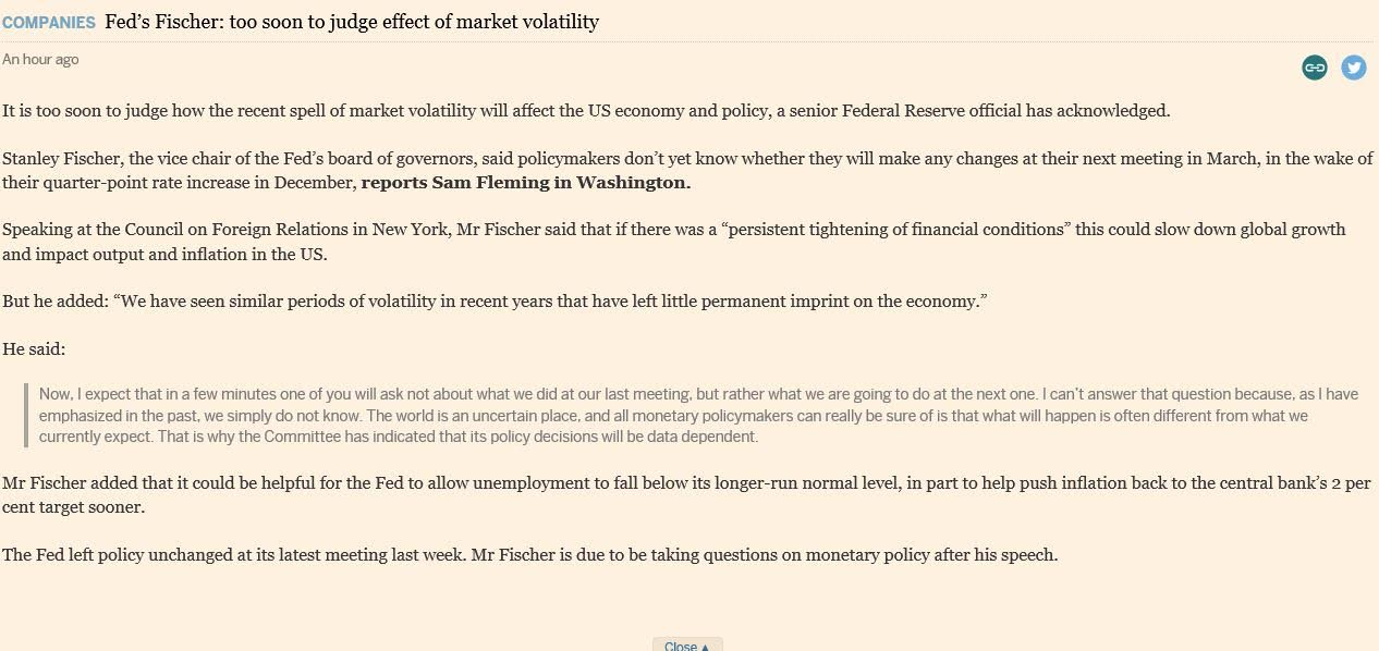 Fed Fischer Speech - 1