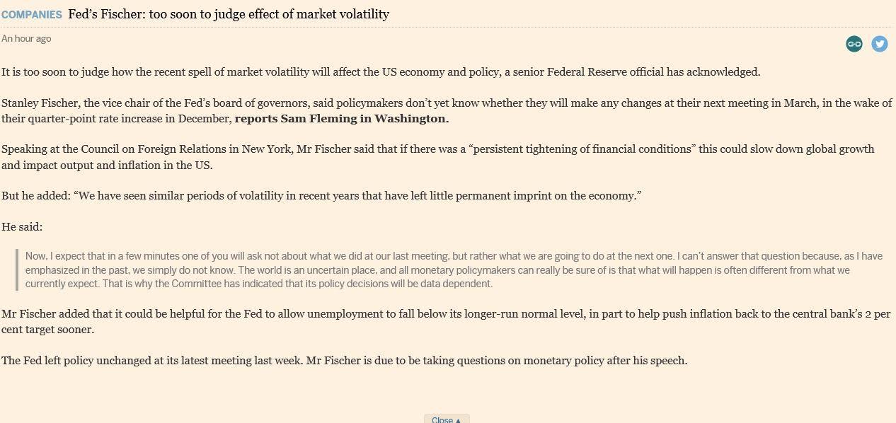 Fed Fischer Speech - 1